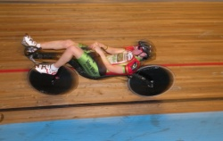 Records and almost records during speedrecordevent at Apeldoorns Omnisport Track