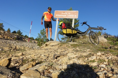 Maurice Mahieu M5 Carbon High Racers bicycle trip from Amsterdam to Lisbon