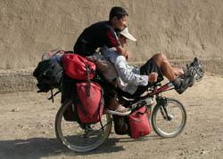 Central Asia Bike Ride finish